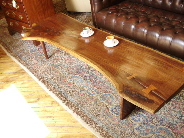 Black Walnut Modern Coffee Table